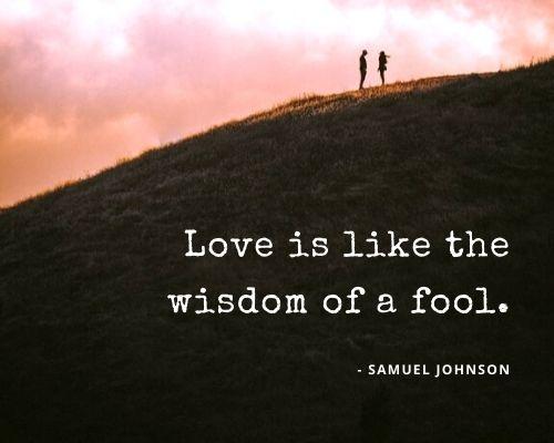 samuel johnson quotes on love