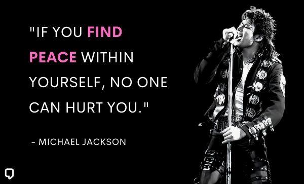 michael jackson quotes about peace