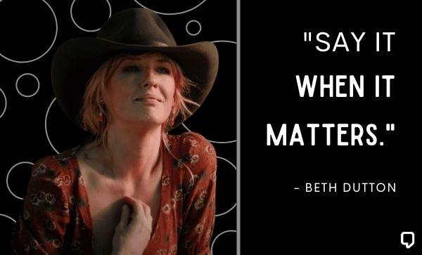 Best Beth Dutton Quotes