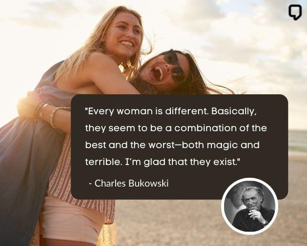 Charles Bukowski Women Quotes