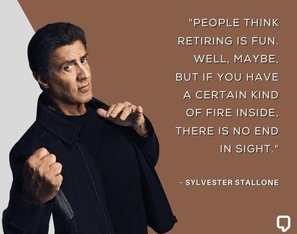 Sylvester Stallone Sayings