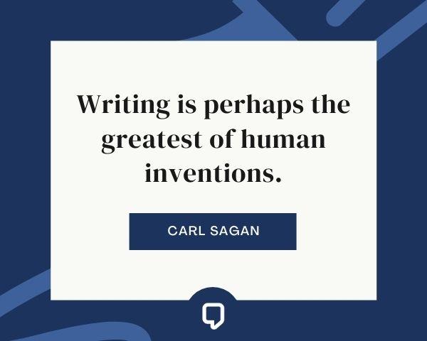 carl sagan quotes about writing