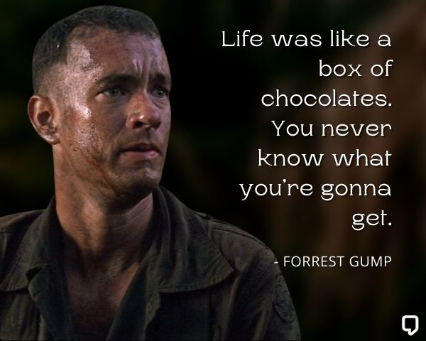 Forrest Gump Chocolate Quote