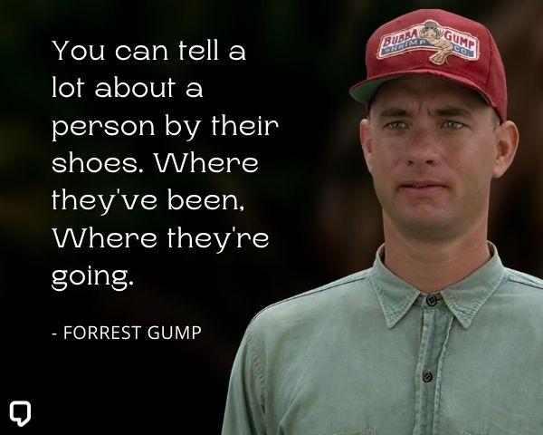 Forrest Gump Shoe Quotes